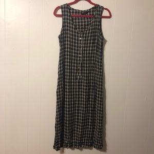 Vintage 90's plaid midi dress